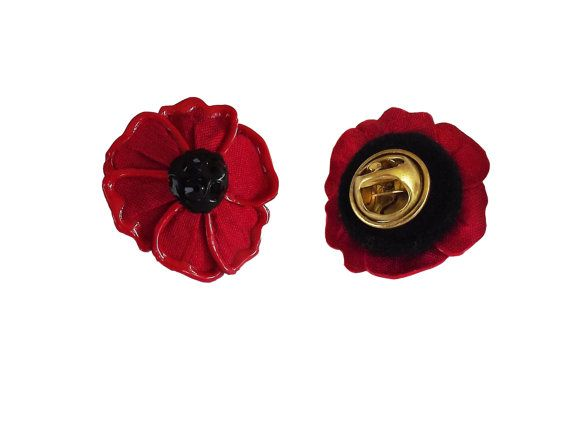 Flanders Poppy Lapel Pin By Begurple On Etsy Projects To Try