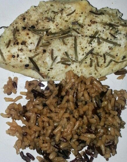 Rosemary and Garlic Chicken Breast with Wild Rice