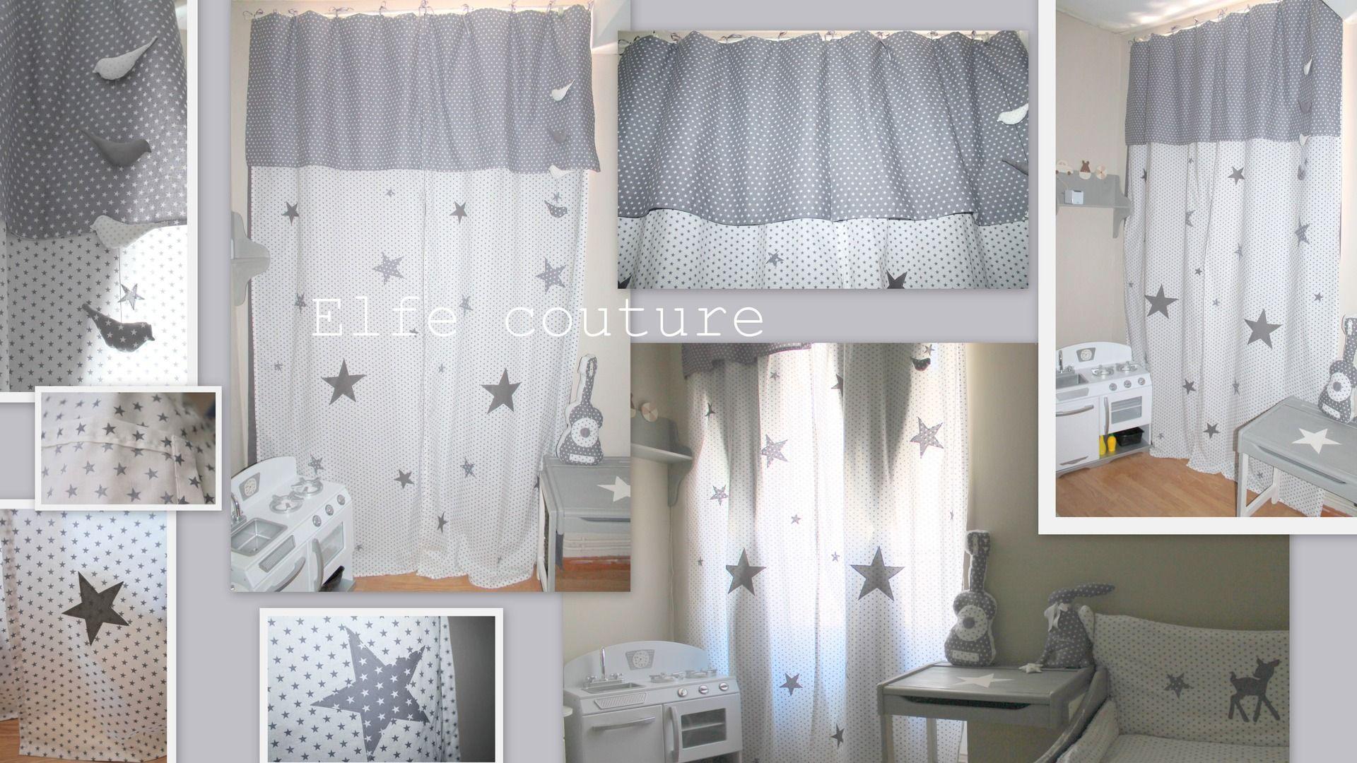 reserve rideau occultant toil pour chambre bb enfant appliques cousues toiles nouettes en satin dimensions 95x200cms dcoration pour