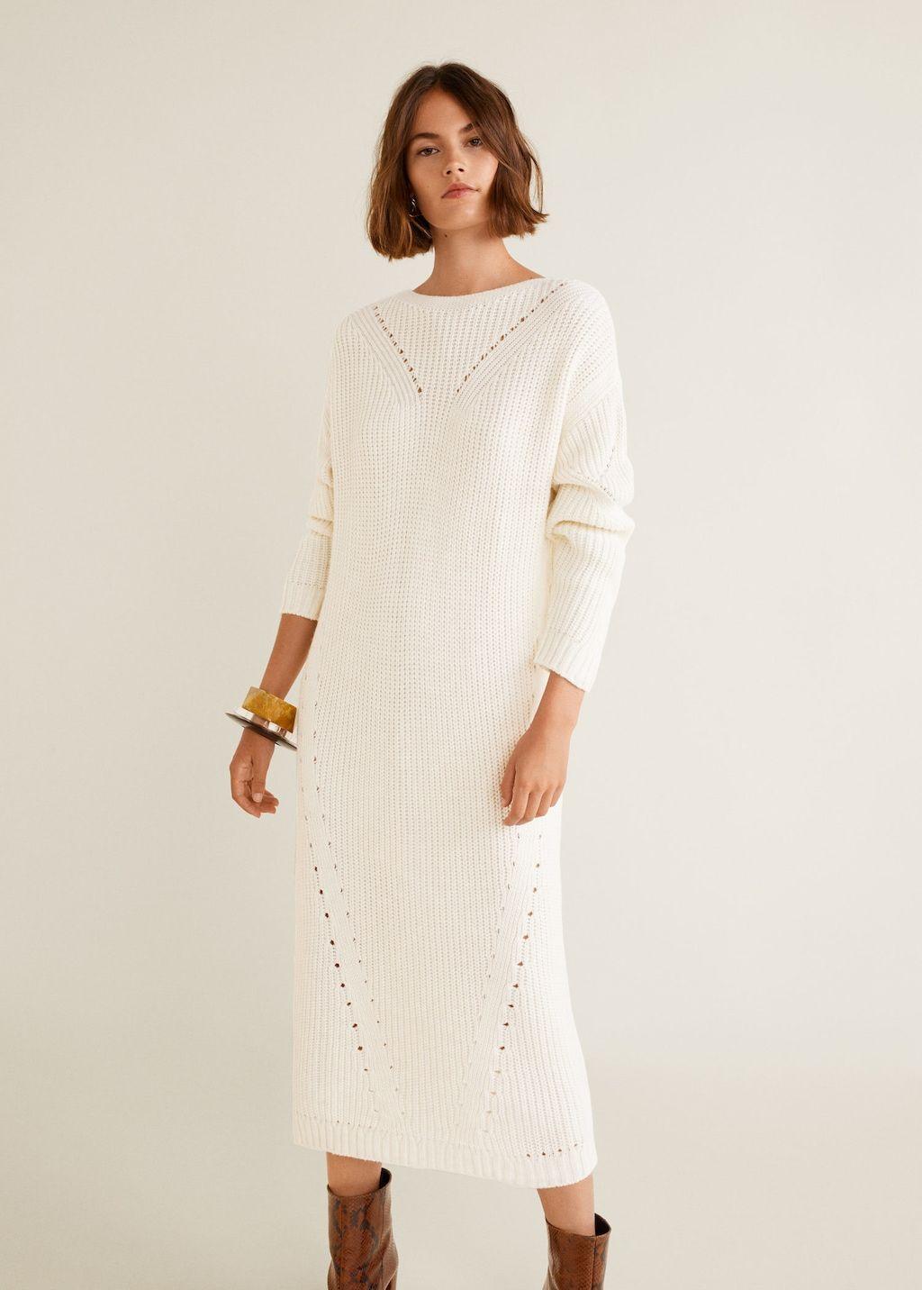 Knit Long Dress Women Mango Usa Lange Kleider Damen Lange Kleider Kleider Fur Frauen