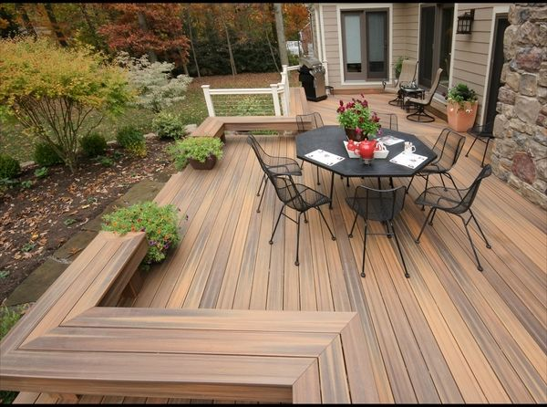Composite Decking Patio Deck Design Ideas Iron Outdoor Dining Furniture