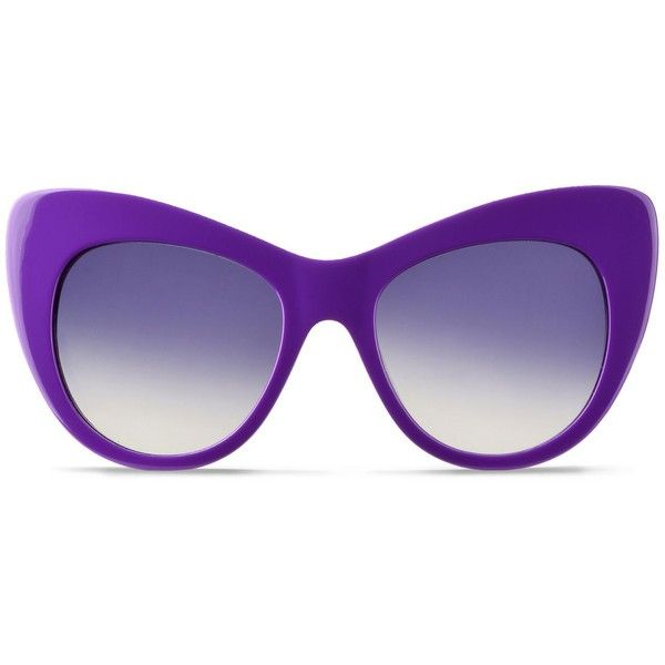 efb87ffeac4 Stella Mccartney Purple Oversized Cat Eye Sunglasses ( 345) ❤ liked on Polyvore  featuring accessories