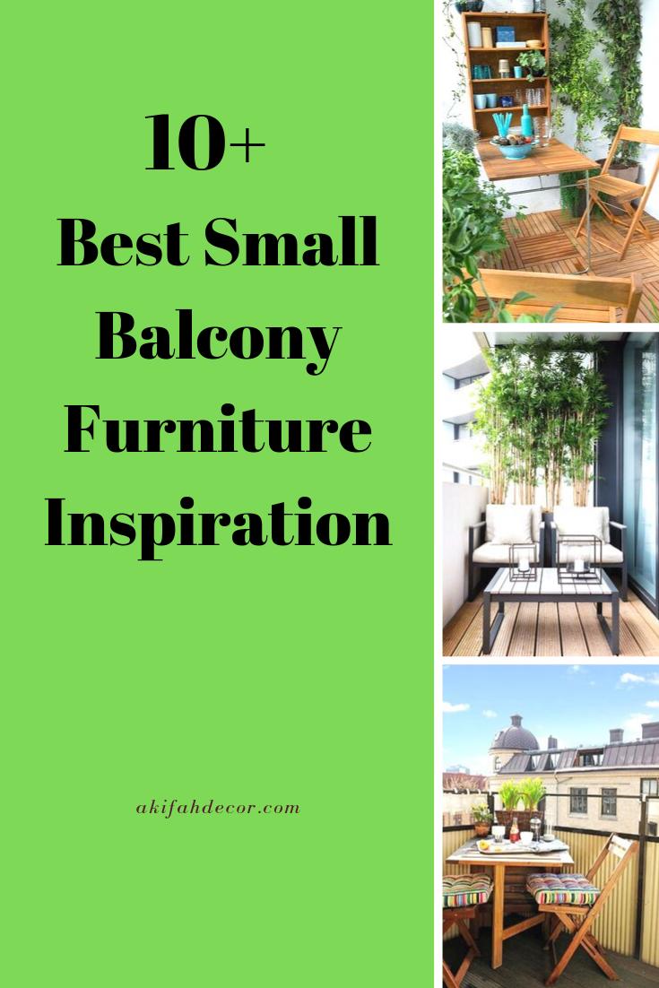 10+ Best Small Balcony Furniture Inspiration - Akifah Decor #smallbalconyfurniture