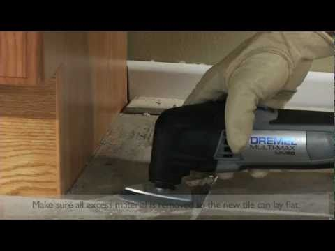 Removing Grout And Cutting Floor Tile Dremel 4200 Diy Furniture