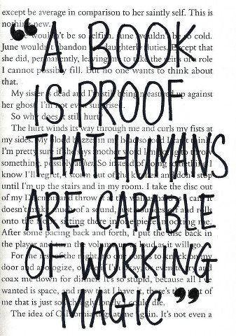 Un libro è la prova che gli uomini riescono a fare delle magie!