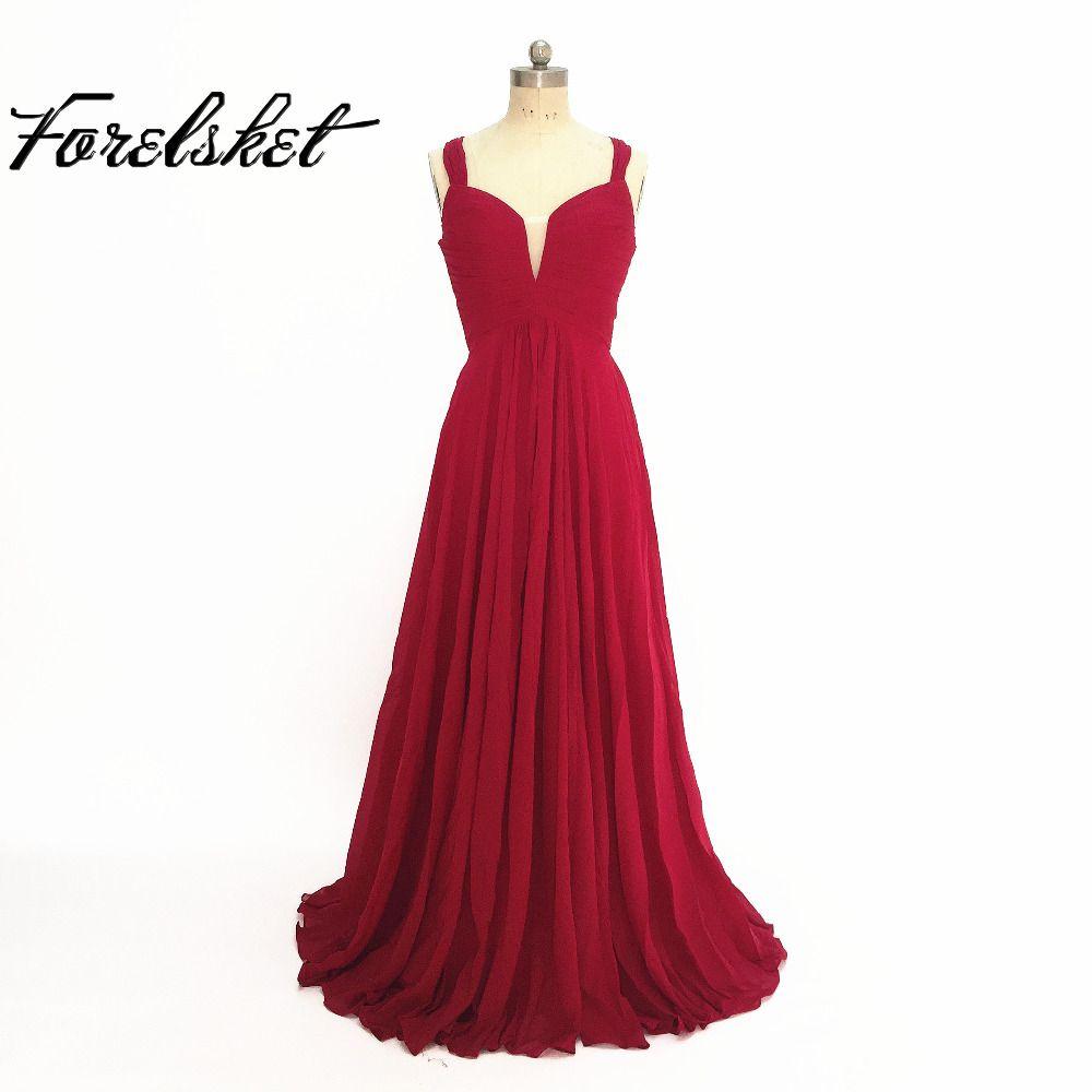 Cheap bridesmaid dresses long appliques spaghetti straps