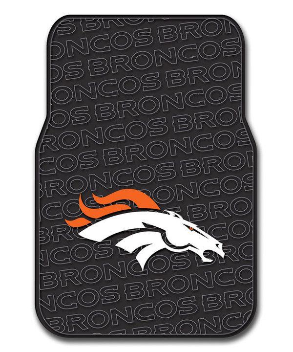 Look At This Denver Broncos Front Floor Mat On Zulily Today Nfl Car Denver Broncos Gear Bronco Car