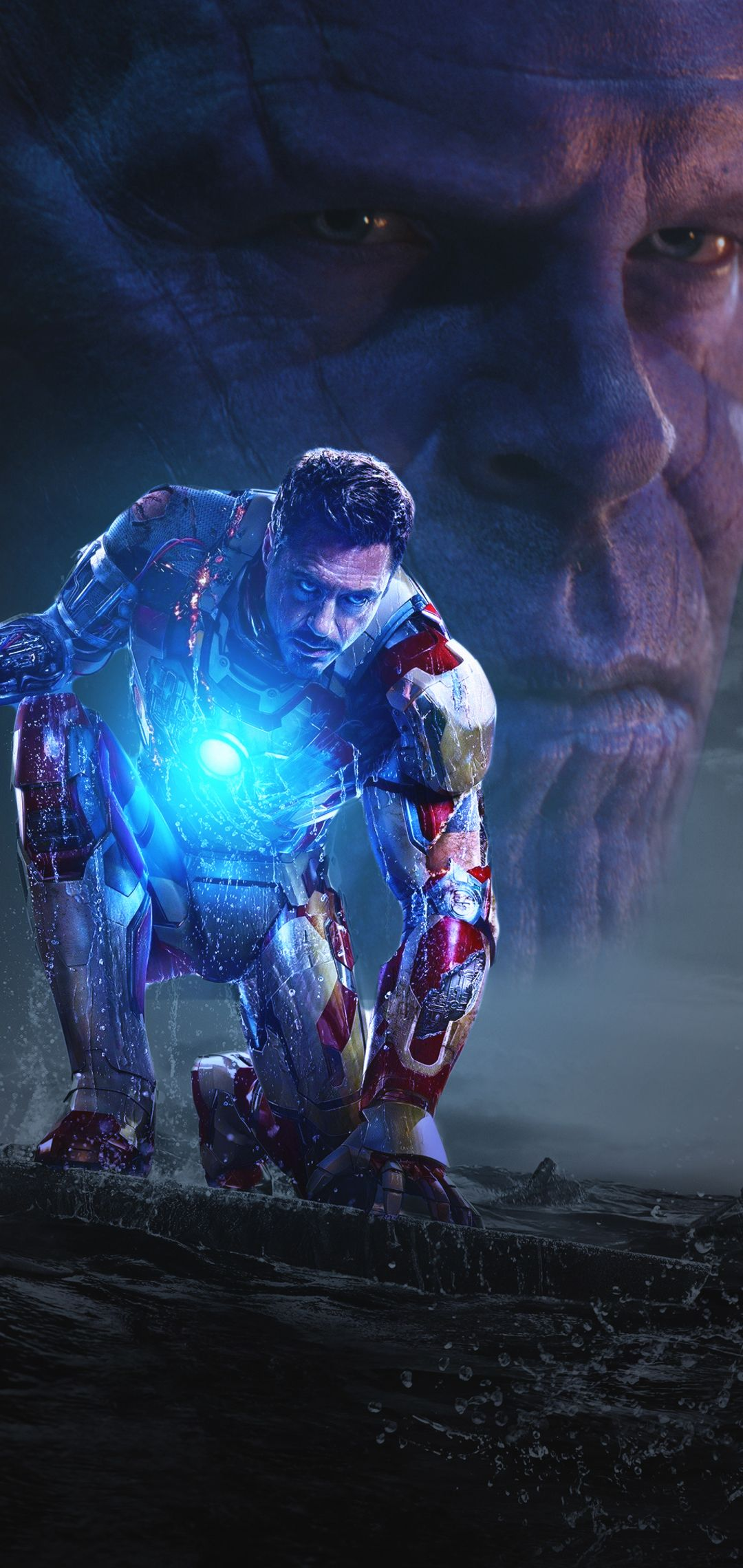 1080x2280 Iron Man And Thanos In Avengers Infinity War One Plus 6 Huawei P20 Honor View 10 Vivo Y85 Oppo F7 Xiaomi Mi A Avengers Infinity War Avengers Iron Man