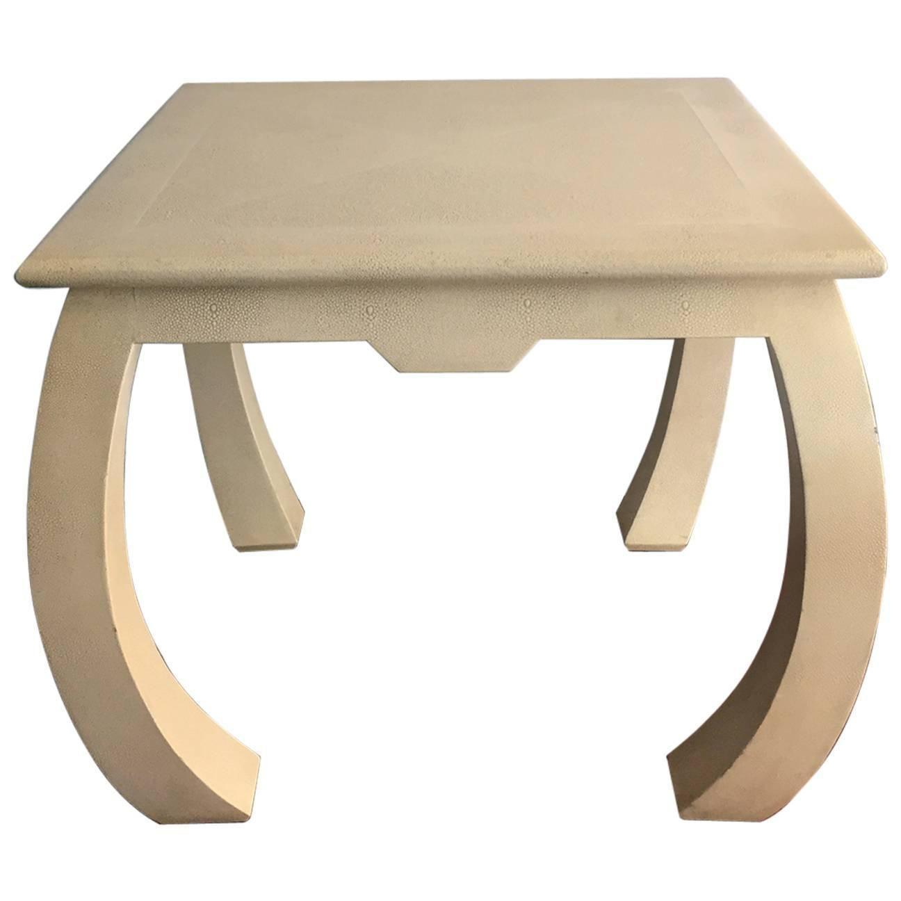 Shagreen Leather Table by Enrique Garcel Modern side