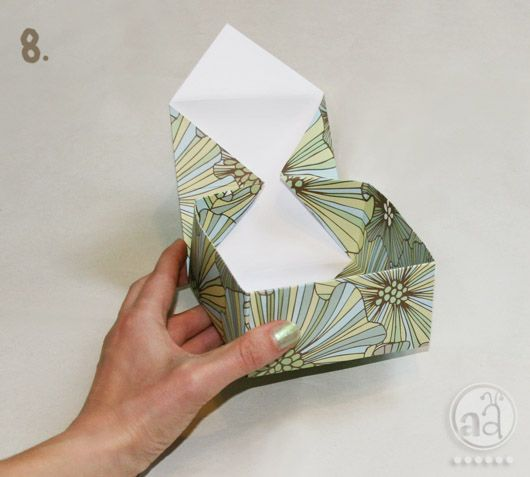 Simple Origami Gift Box Tutorial Artsy Ants The Paper Trail