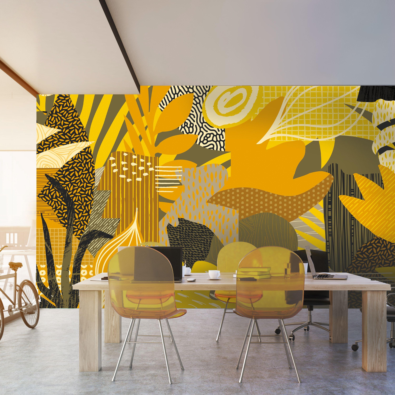 Tropicana Mural By Level Digital Wallcoverings Custom Colored