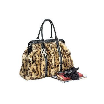 d2bdfb550176 Leopard Faux Fur Weekend Bag from Donna Salyers  Fabulous-Furs Signature  Series Travel in