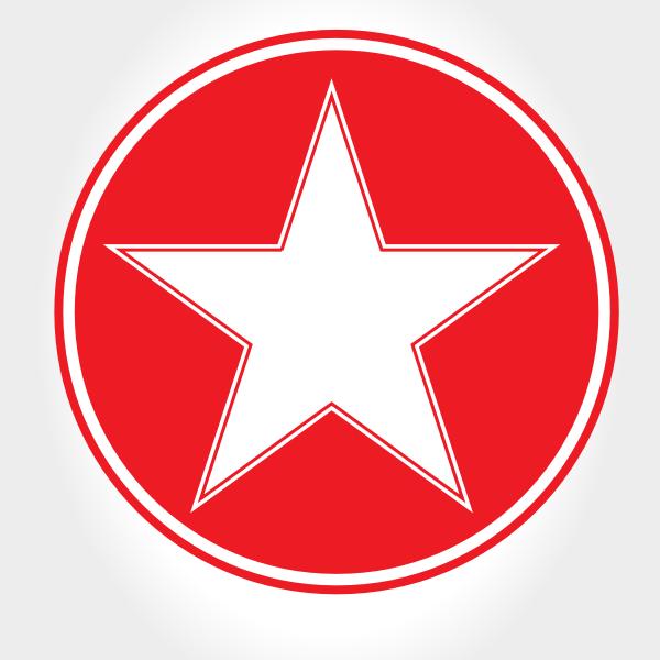 White Star Red Circle Circle Image Symbols Stars
