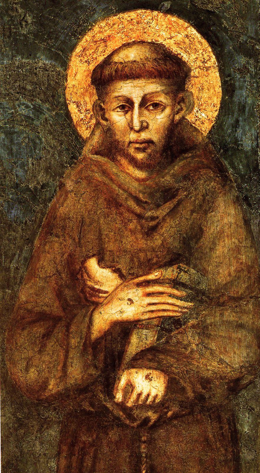Cenni di Petro (Giovanni) Cimabue (c.1240 – 1302)  Saint Francis of Assisi (detail)