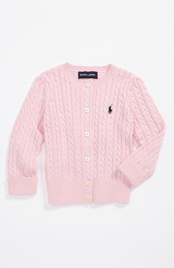 brand quality great discount for official Ralph Lauren Cardigan (Baby Girls) | Nordstrom | Ralph ...