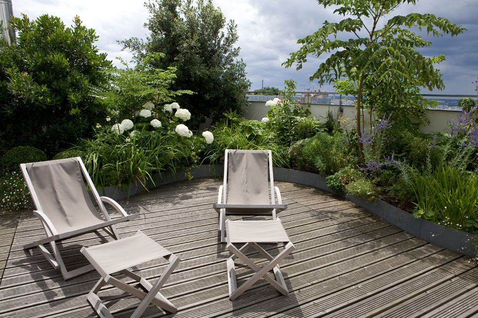 Une terrasse paris balcon jardin suspendu pinterest - Amenagement balcon paris ...