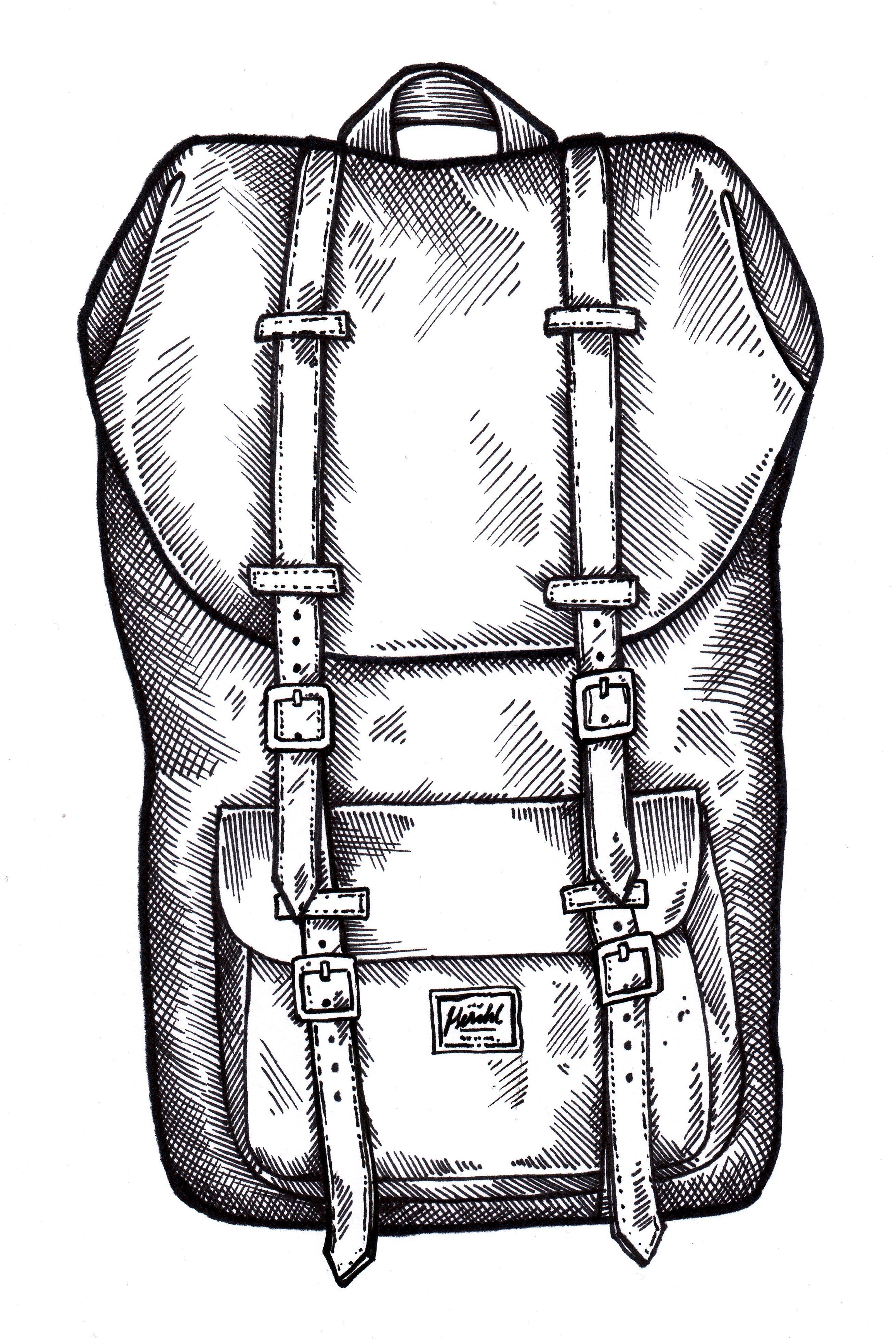 Herschel Herschel Backpack Illustration