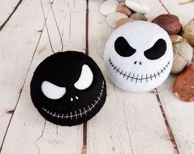 Halloween decoraci n jack skellington juguete fieltro - Adornos de halloween ...