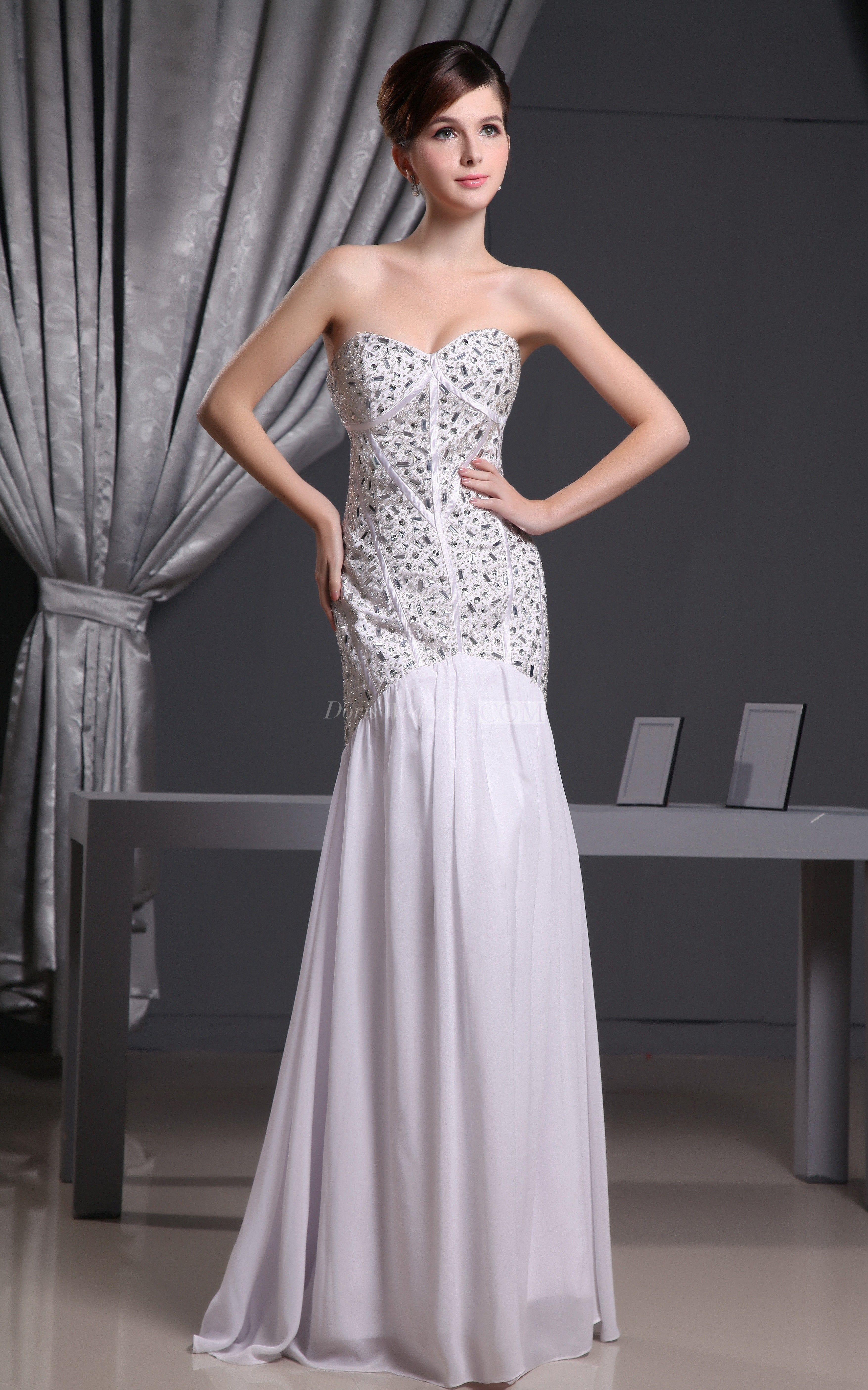 Sleeveless embellished chiffon long dress with beaded bodice