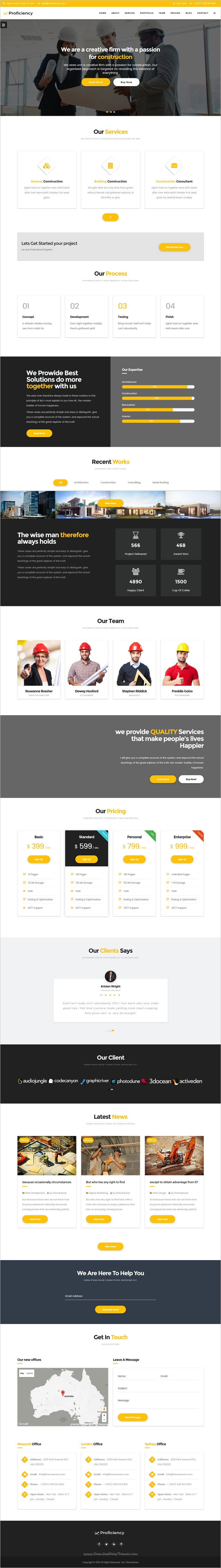 Proficiency is clean and modern material design #HTML Bootstrap template  for #construction, web studio and artistic agencies websites download now➩ https://themeforest.net/item/proficiency-material-design-business-html-template/19161025?ref=Datasata
