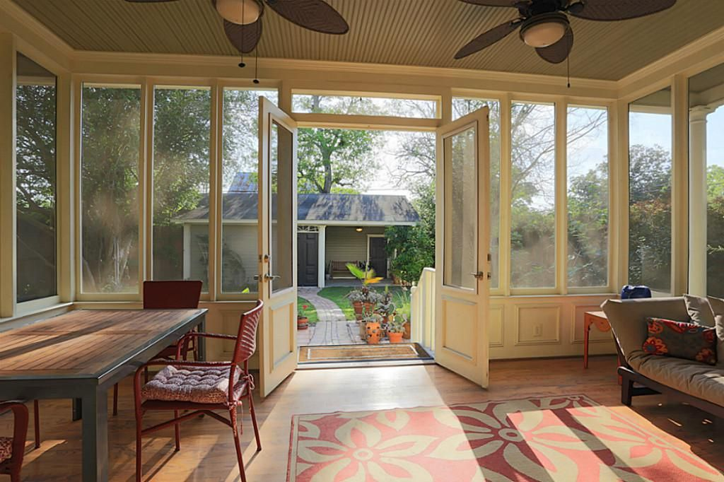 Screened back porch ideas for the home pinterest for Enclosed back porch ideas