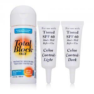 Total Block Face Sunscreen, SPF 60, Tinted 2 oz (Pack of 3) Prime B-Cellular Revitalizing Serum  30ml/1oz