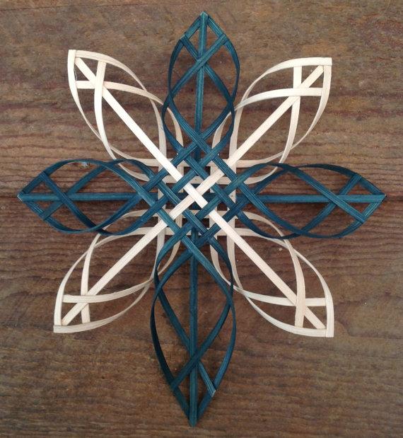 Scandinavian - Swedish - Advent - woven reed cross star ...
