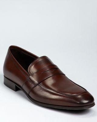 Onlie Wholesale Senato' Penny Loafer Men Mens Black Leather To Boot New York Mens Loafers Slip Ons