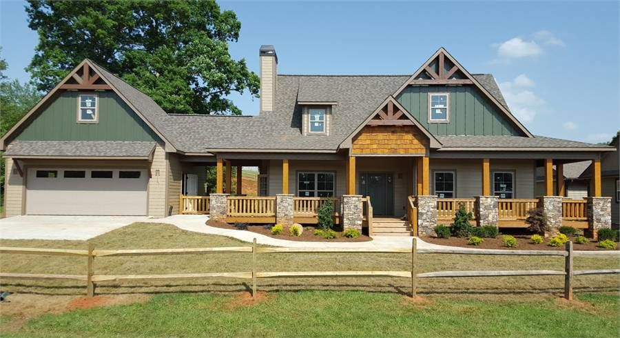 The Hickory Ridge Iv A House Plans Dream House Plans Ranch House Plans
