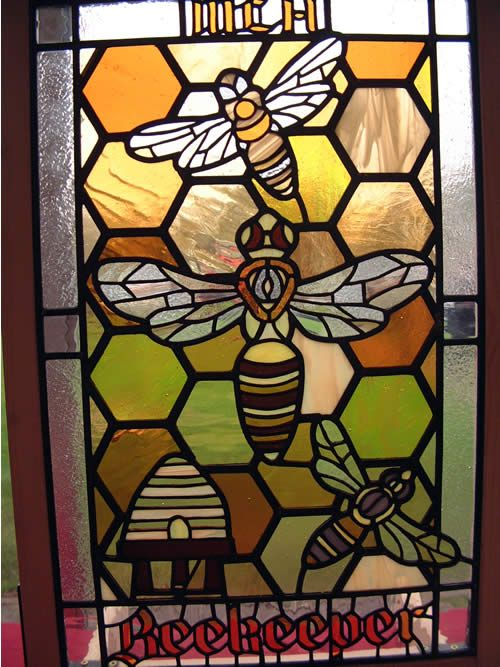ea308be357ad bees and honeycomb … | Stained glass windows | Glass…