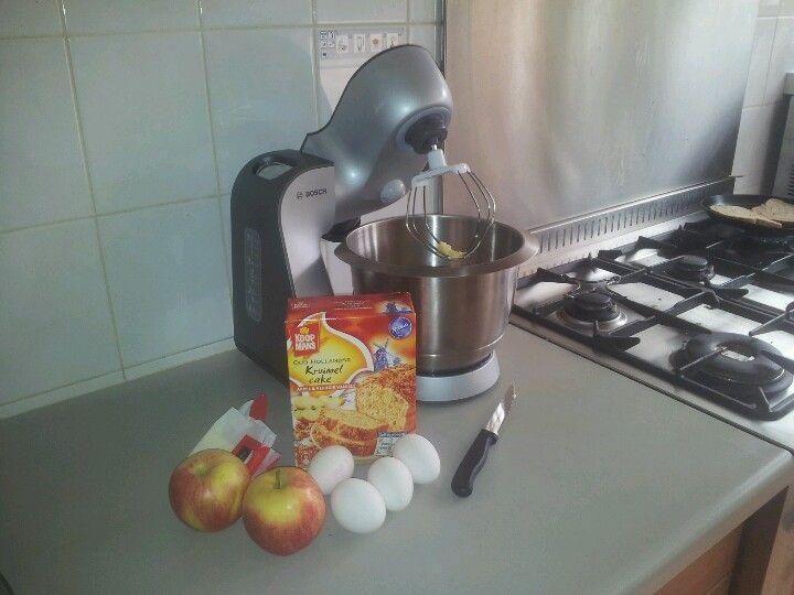 Kruimige appelcake!
