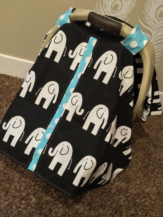 Carseat Canopy Free Shipping Code Today ELEPHANT Last One RTS