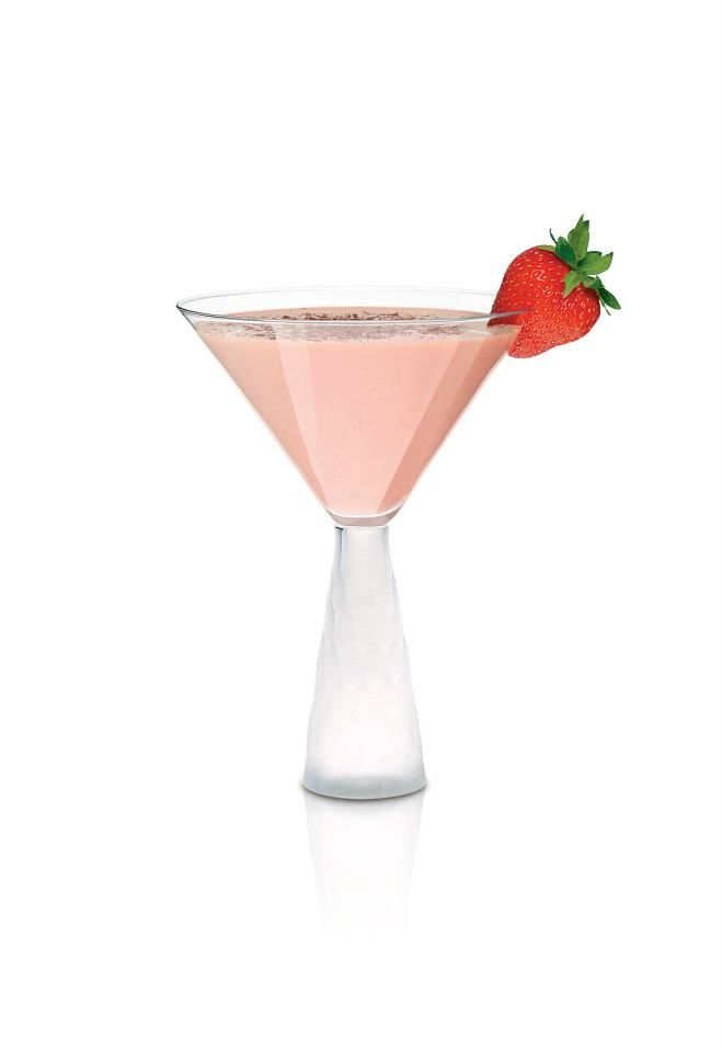 Chocolate Covered Strawberry    1 ¼ oz Frangelico  1 ¼ oz Carolans  ¾ oz cherry brandy    Shake it up with ice, pour into chilled Martini glass. Garnish with fresh strawberry.