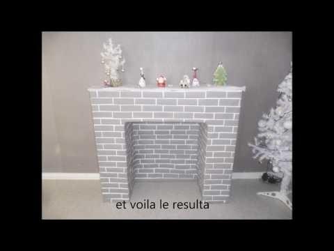 diy fausse cheminée pour une décoration noel - YouTube Inspiration