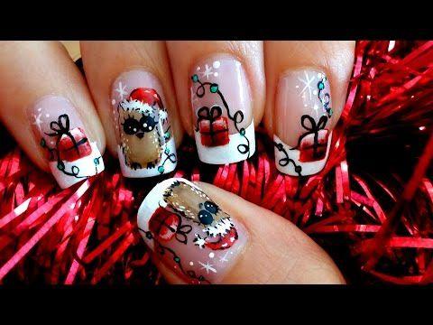Uas Bho Navideo Christmas Owl Nail Art Youtube By