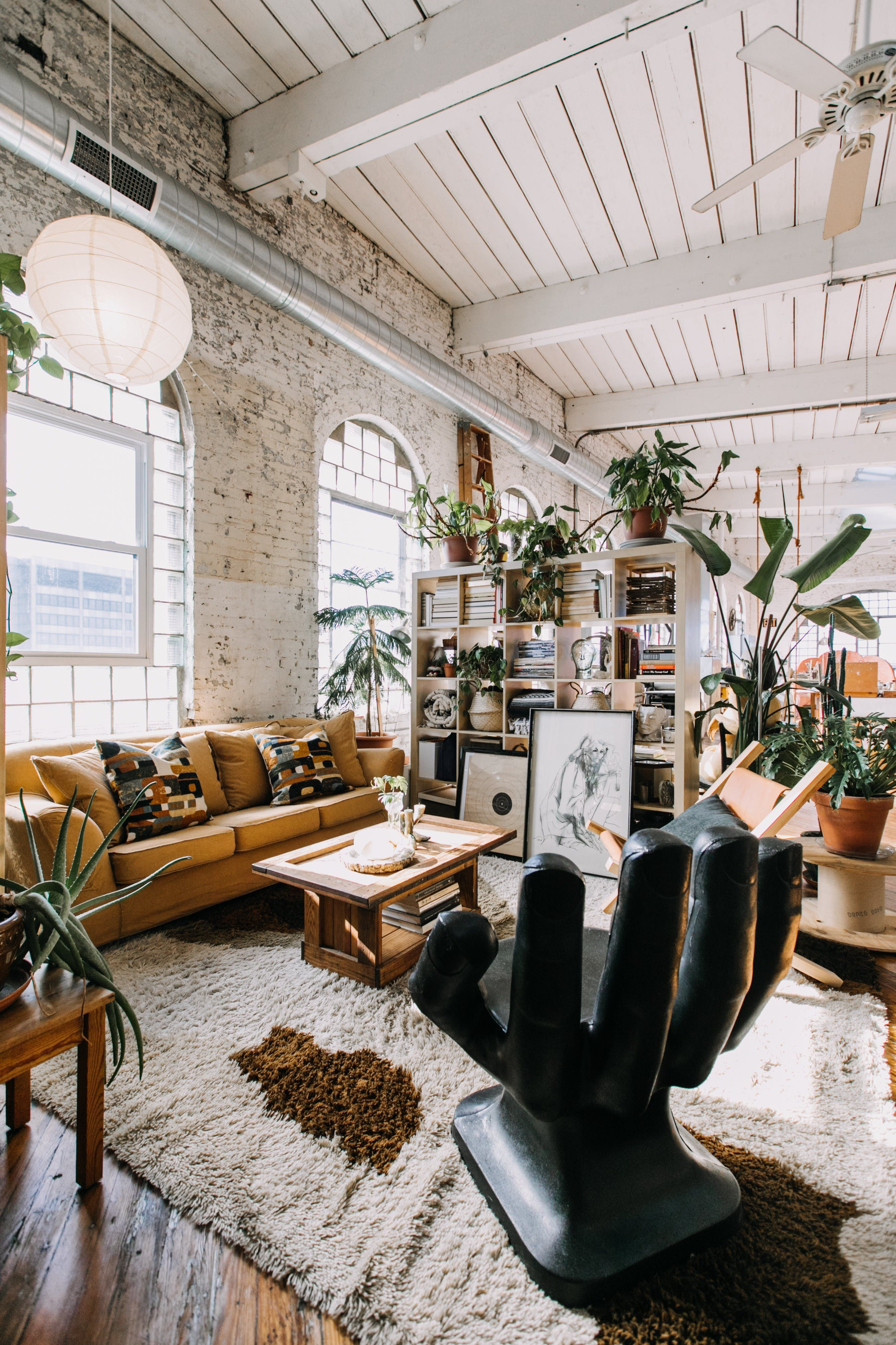 A Sunny, Stunning Loft Apartment in an Old Textile Factory #Apartment #Factory #HomeDecorations #Loft