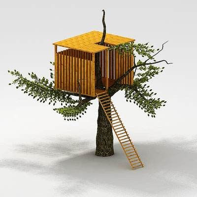 Miniature Tree House modern miniature treehouse | lll houses & castles for miniature