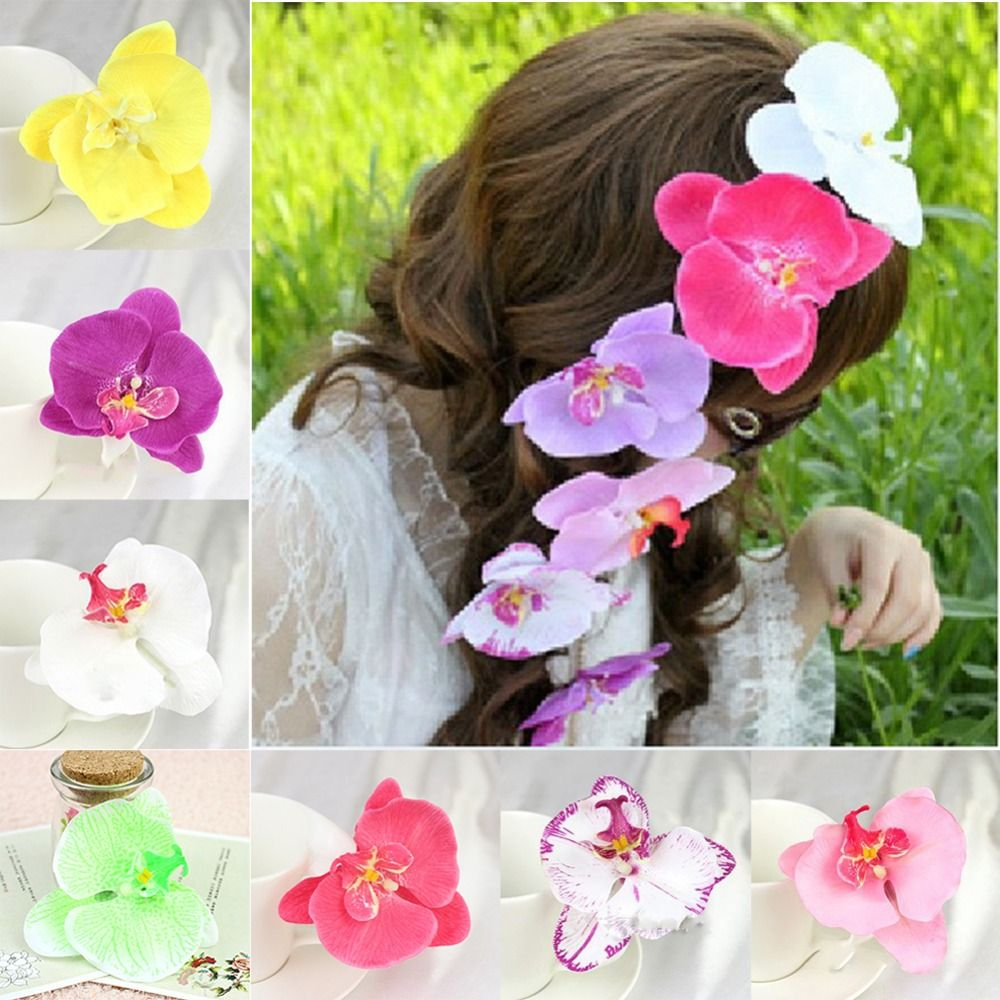 Free shipping orchid flower floral clip wedding prom festival