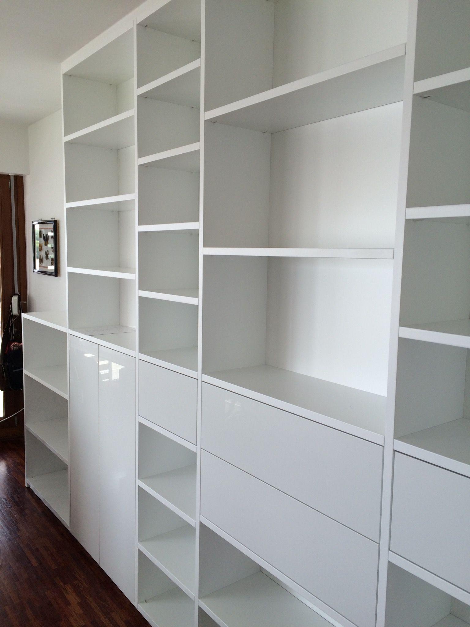 Regal weiß Hochglanz für viel Platz im Wohnzimmer  Regal, Regal