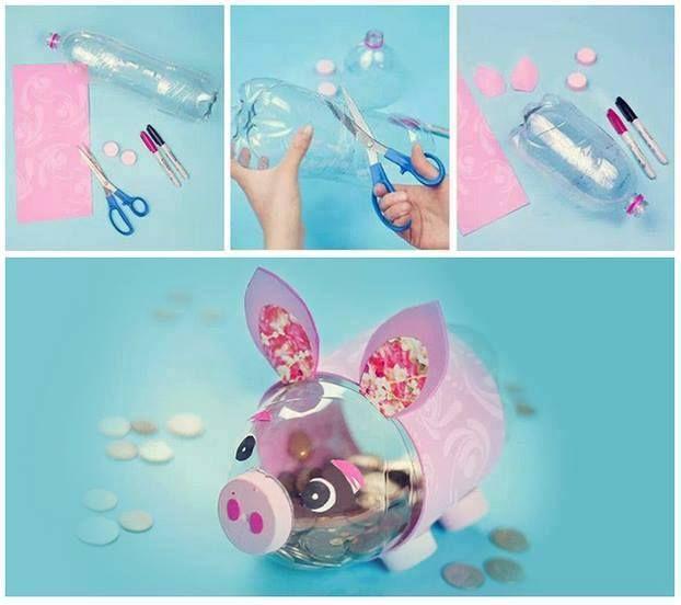 manualidades faciles con botellas de plastico manualidades