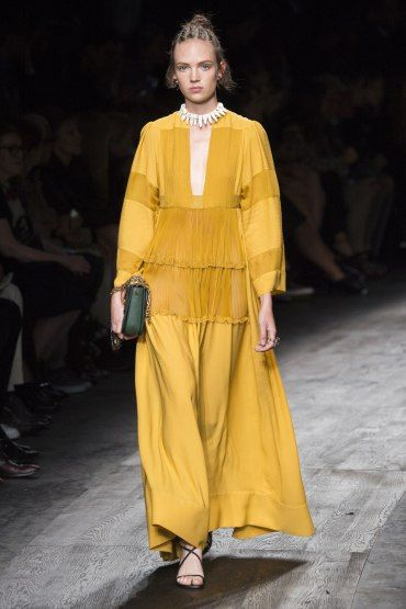 PFW: Valentino's African Italian Fusion | Yellow dress | The Luxe Lookbook
