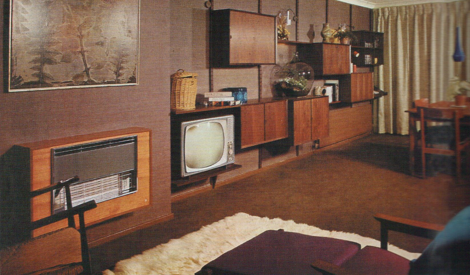1960s Interior Design Images Of Living Room From The