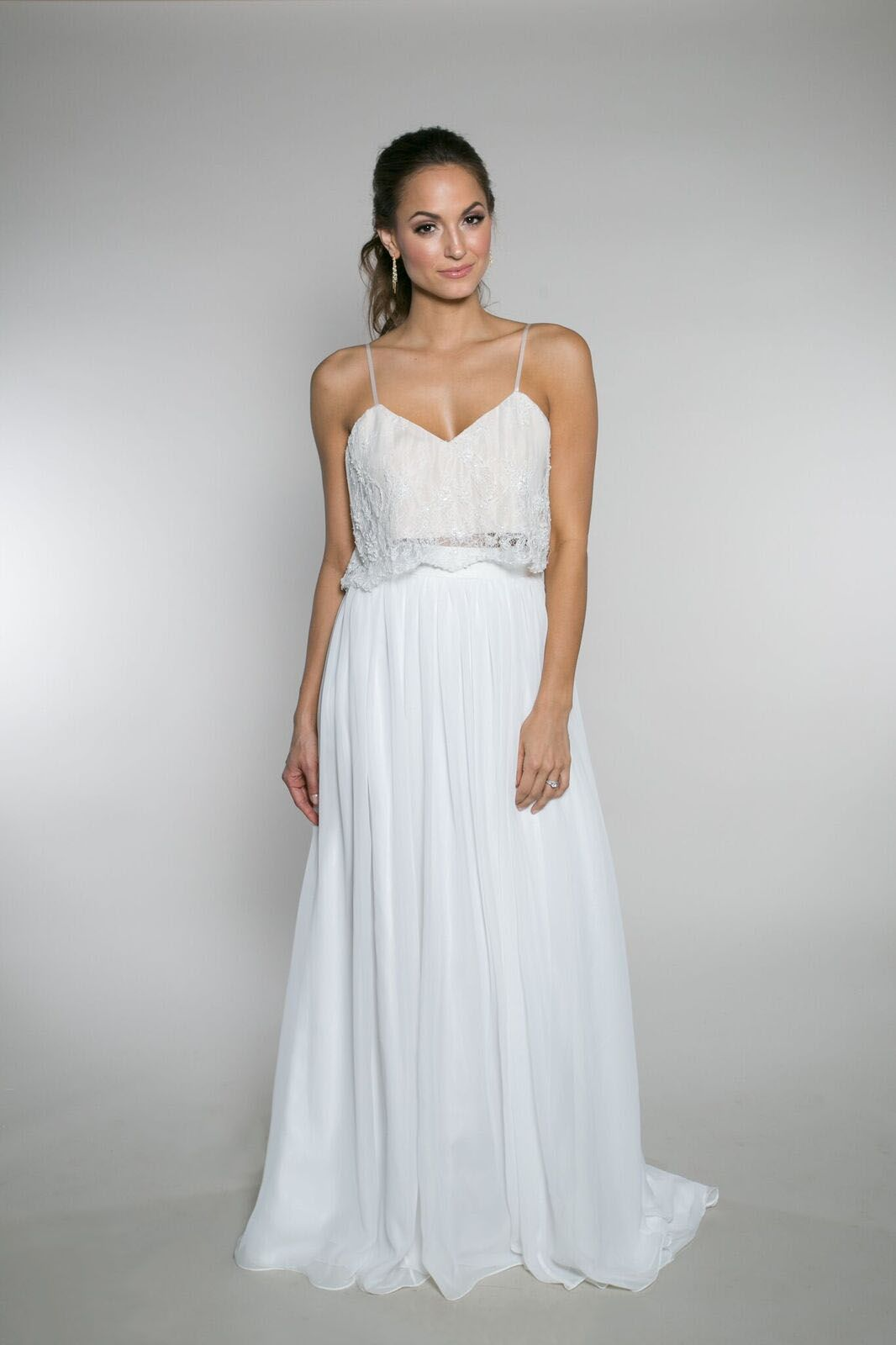 Lola Skirt Tank Top The Tank Top Is Another Great Bridal Separate It Was Created With T Wedding Dress Styles Custom Wedding Dress Designer Wedding Dresses