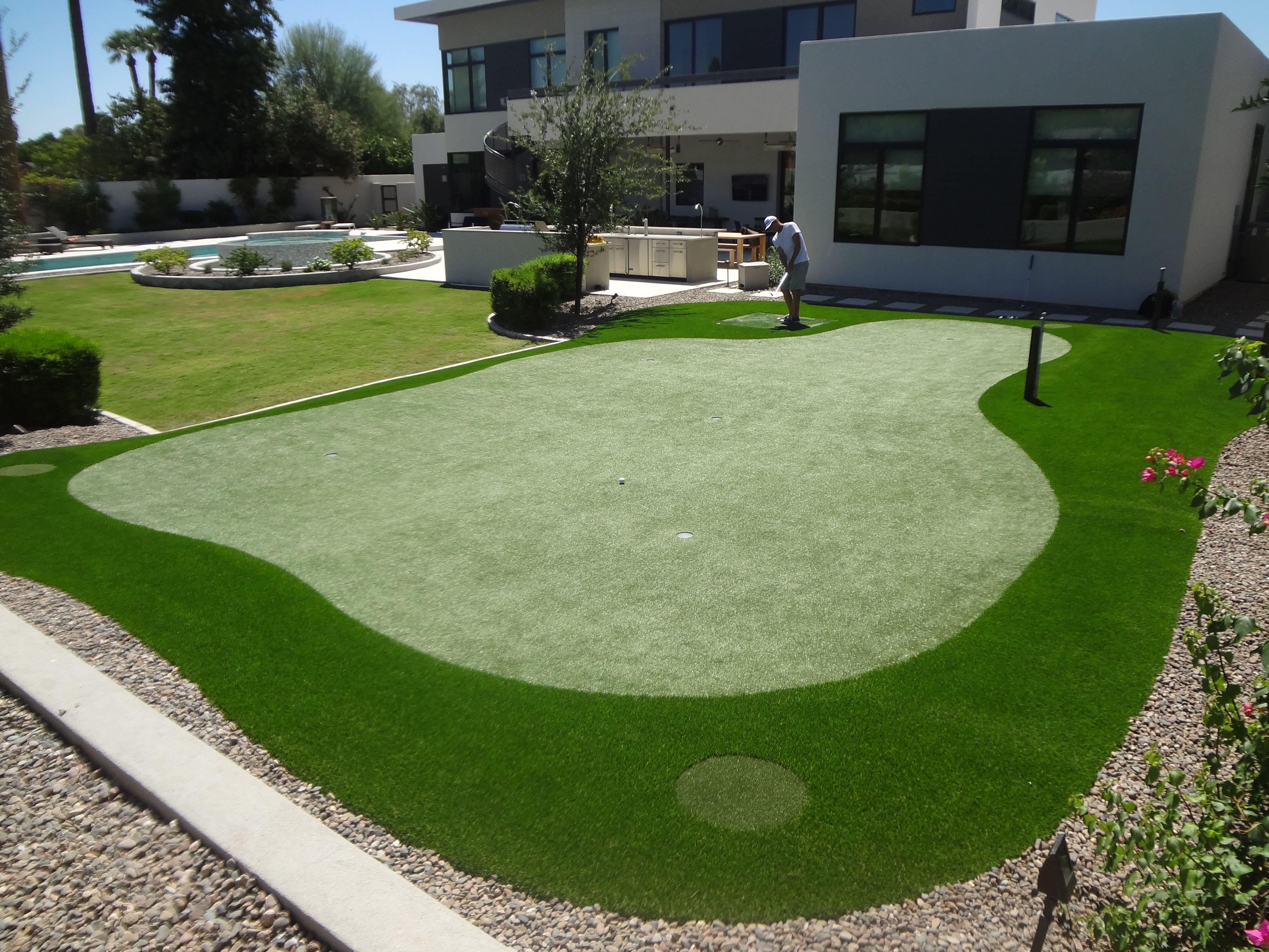 Backyard Putting Greens | Backyard putting green, Putting ...