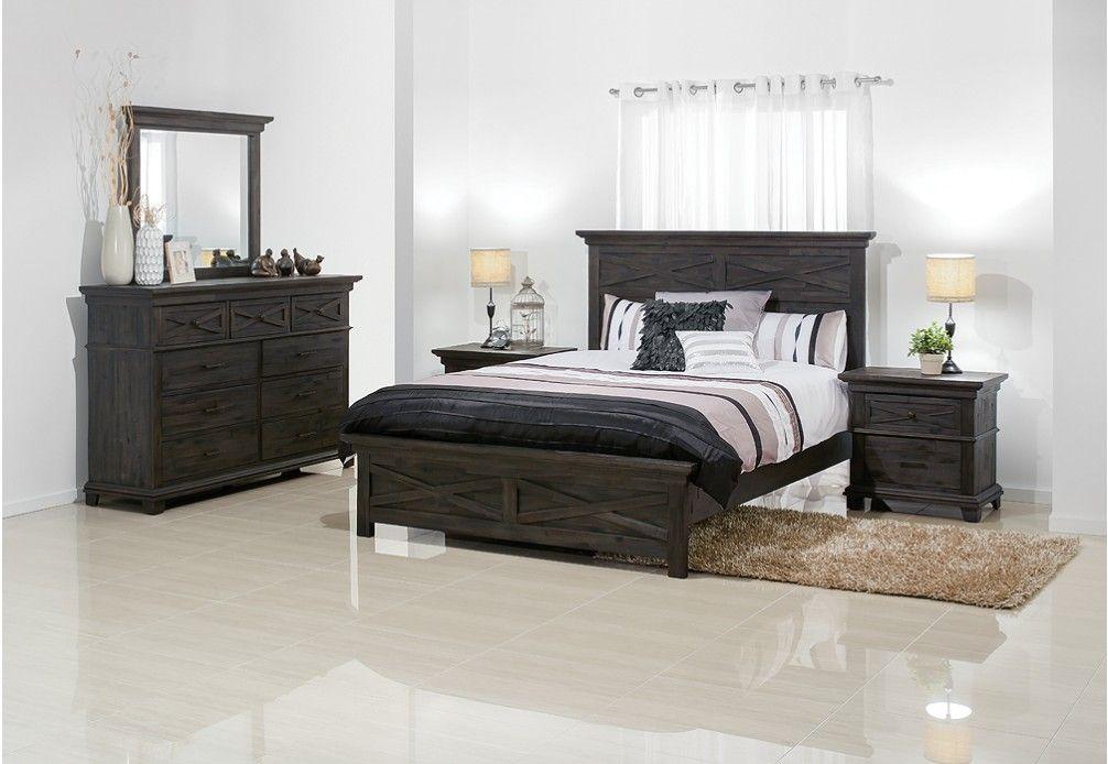 Vineyard 4 Piece Dresser Queen Bedroom Suite | Super A Mart