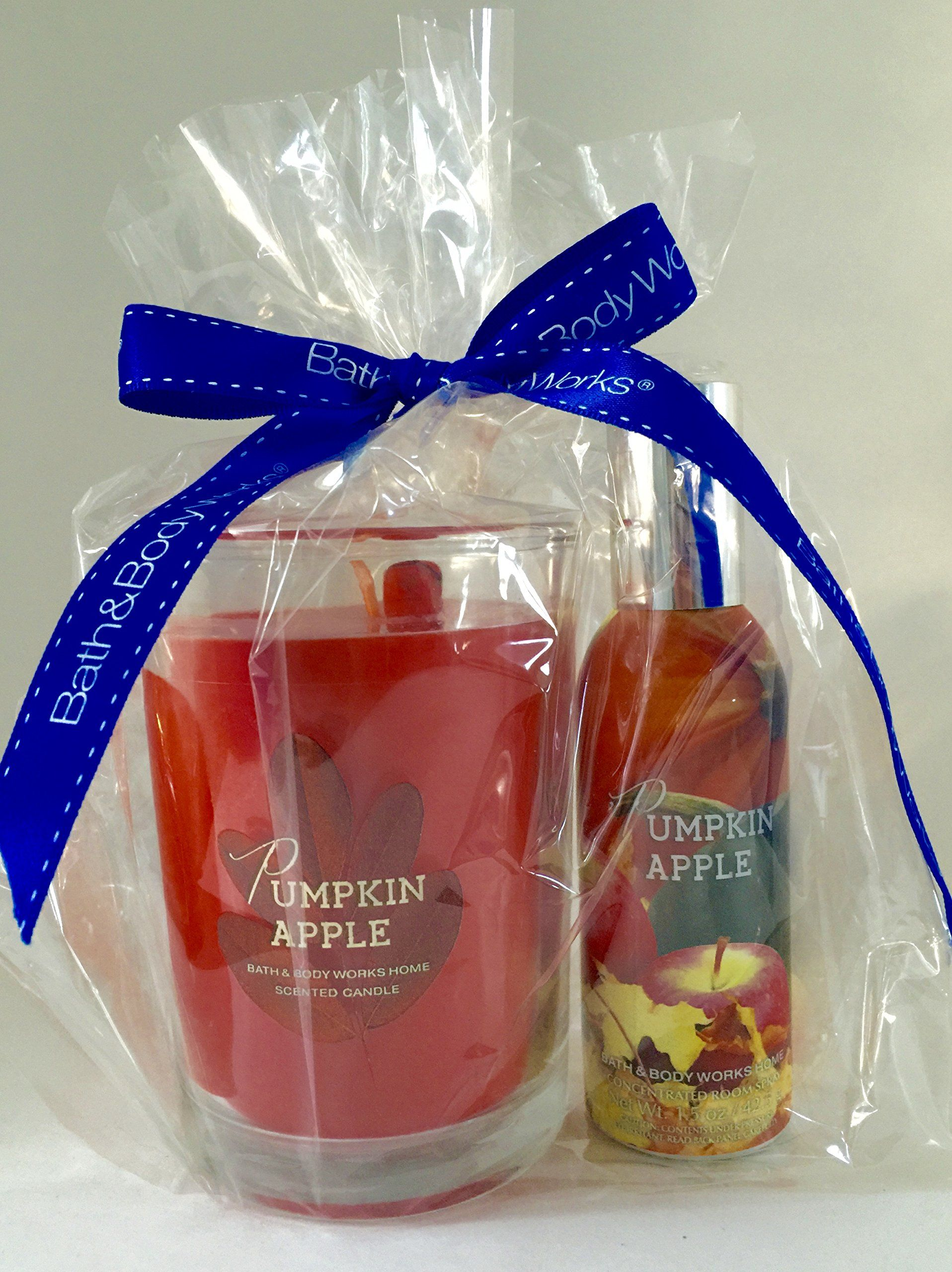 Bath and Body Works Pumpkin Apple Candle and Room Spray Gift Set & Bath and Body Works Pumpkin Apple Candle and Room Spray Gift Set ...
