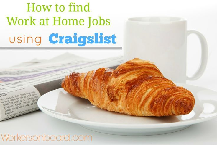 How to find work at home jobs using craigslist