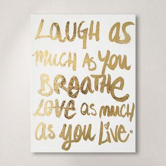 Laugh/Love Canvas Print