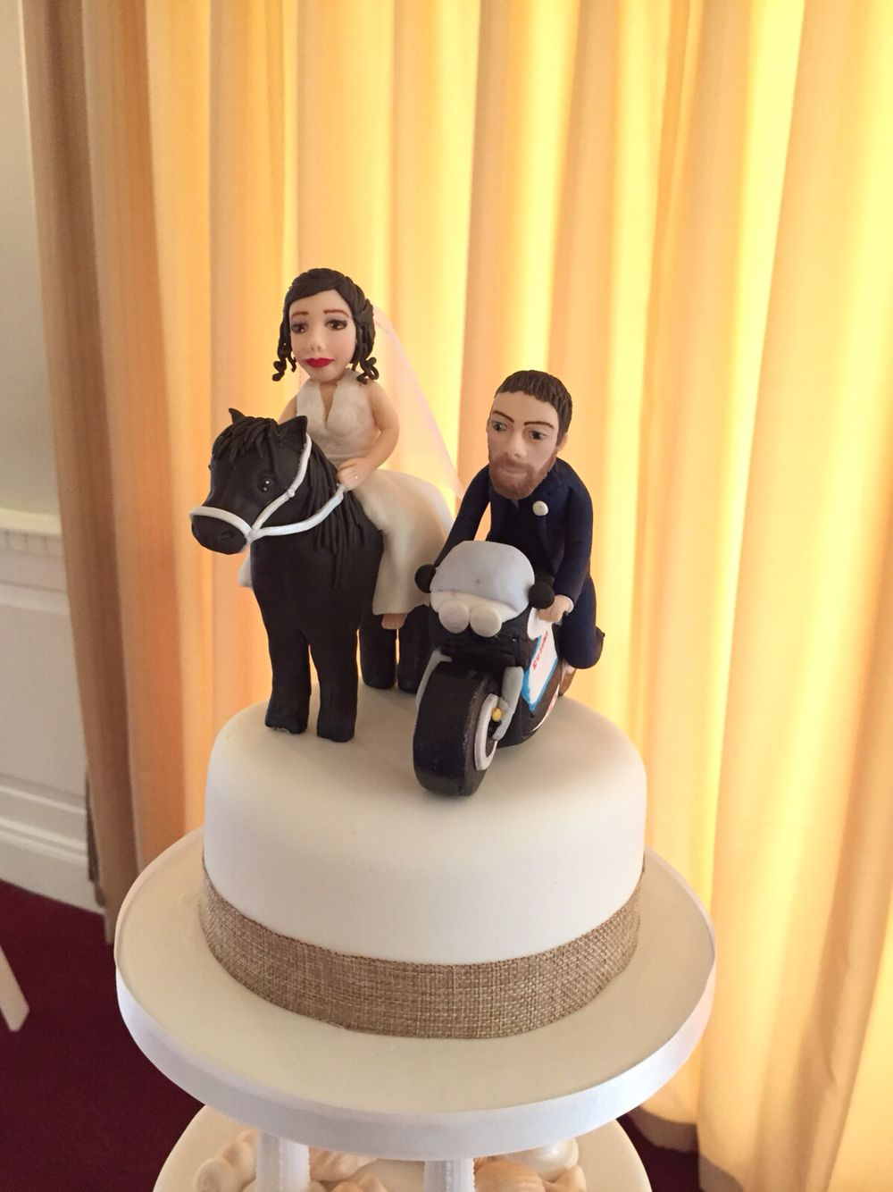Wedding cake topper. Bride on horse. Groom on motor bike | Cakes ...