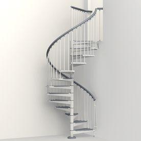 Best Arke Eureka 55 In X 10 Ft White Spiral Staircase Kit 400 x 300
